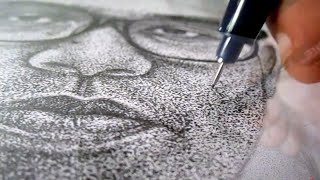 Pointillism Drawing - My Portrait