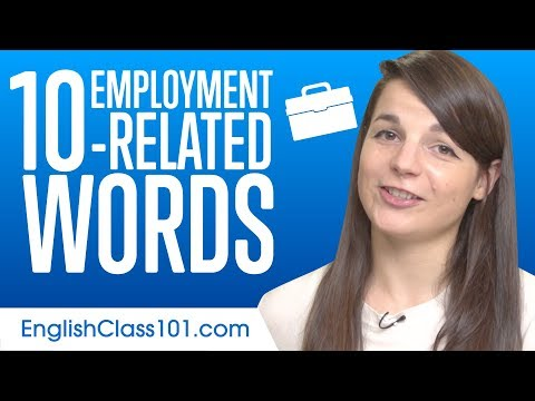 Top 10 Employment-related Words in English