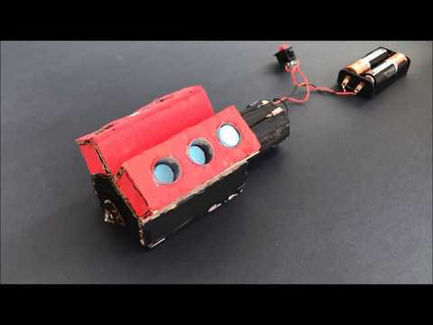 How to Make Powerful V6 Motor - DIY Toy