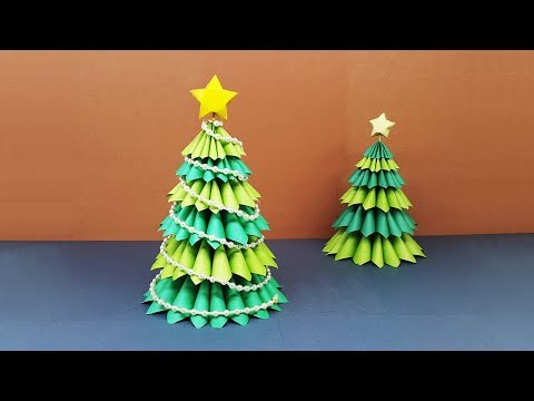 How To Make A Beautiful 3D Paper Christmas Tree | Amazing DIY crafts for Christmas!