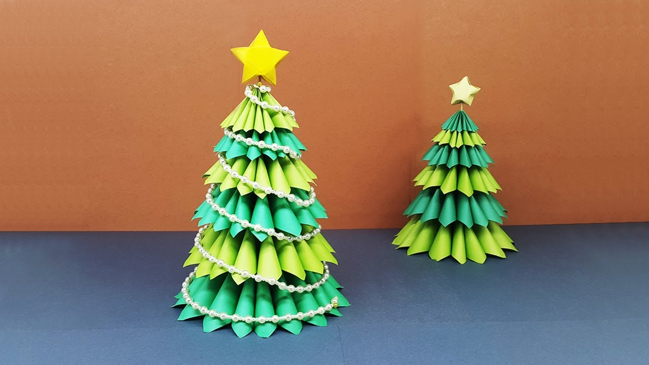 How To Make A Beautiful 3D Paper Christmas Tree | Amazing ...