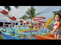 Water Park Fun at WaterWorld with Slides for Kids and Family - Donna The Explorer