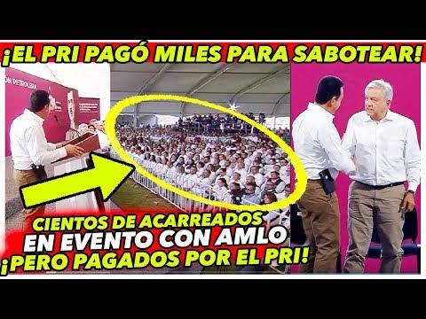 """ASÍ QUISIERON OCULTAR EL REPUDIO AL PRI EN HIDALGO """"ACARREADOS"""" - AMLO EN TULA HIDALGO"""