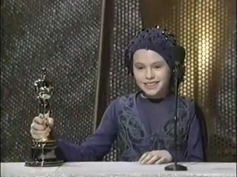 Anna Paquin at  oscars  interviews. .Age 11. 1994
