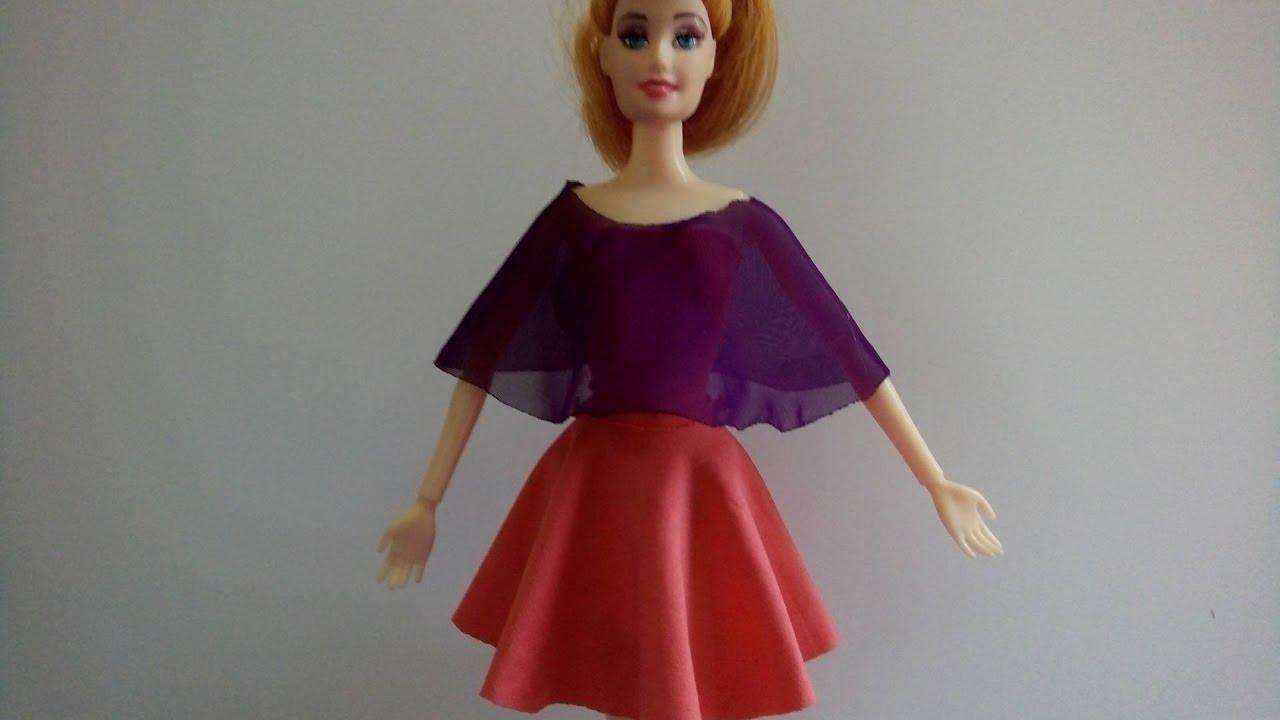 Hướng dẫn cách may váy xòe cực đơn giản cho búp bê Barbie | Chị SuSi TV