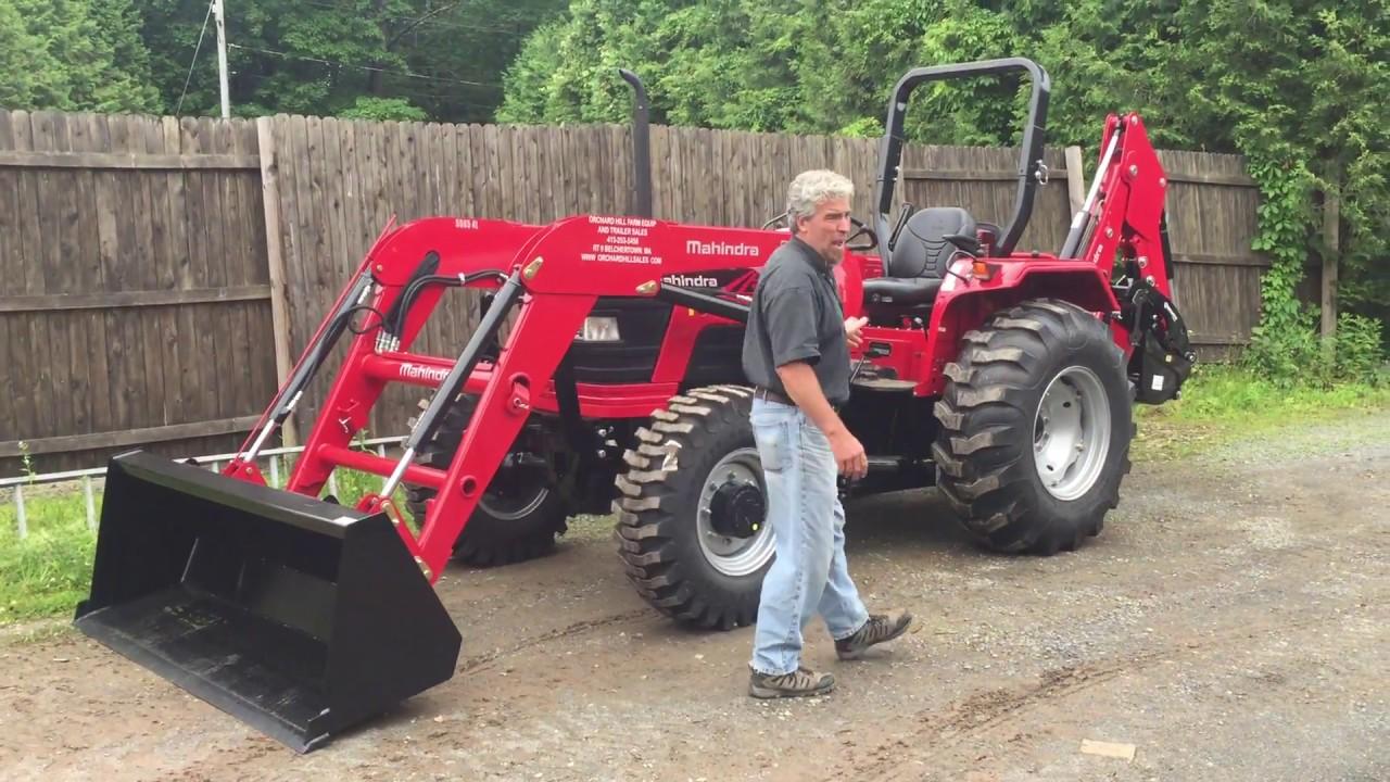 Mahindra 5555 Tractor Loader Amp 75b Backhoe Youtube