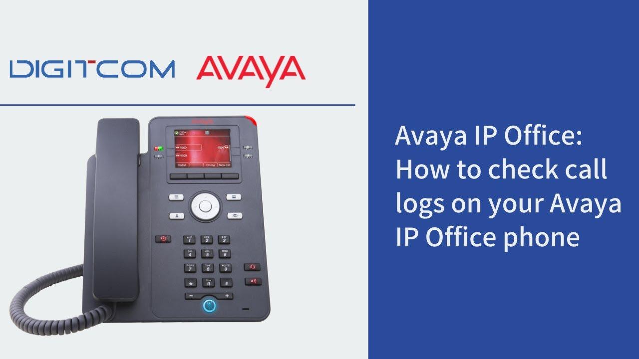 How to Check Call Logs on Avaya IP Office   Digitcom Canada
