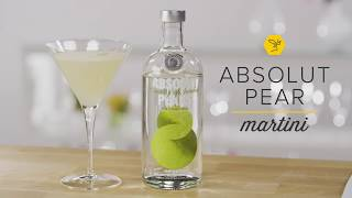 How to Make the Absolut Pear Vodka Martini