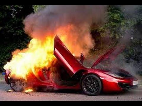 Mclaren 12c Speed Race Accident Youtube