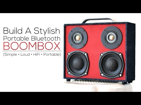 DIY Bluetooth Boombox (from scratch) - YouTube