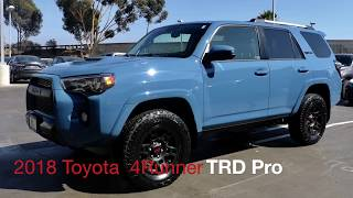 2018 Cavalry Blue Toyota 4Runner TRD Pro