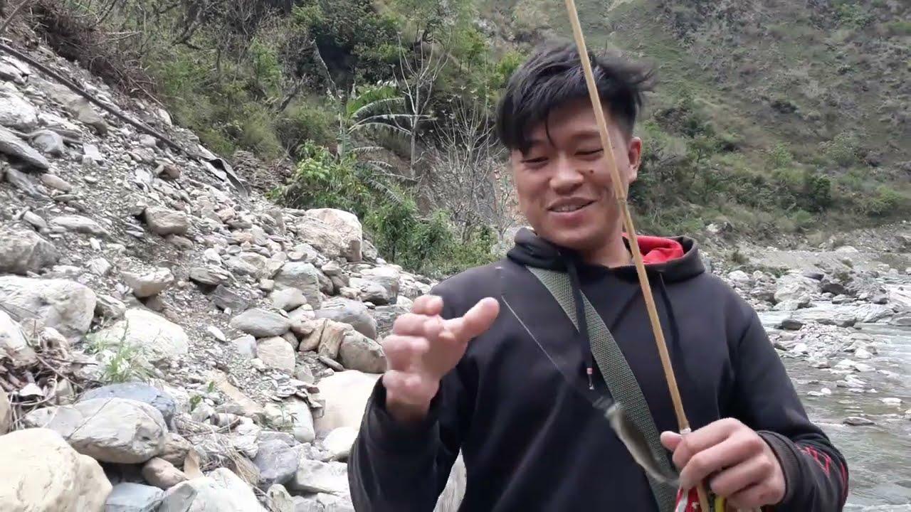 HOOK AND ROD FISHING IN STREAM RIVER OF NEPAL | ASALA FISHING | HIMALAYAN TROUT FISHING |