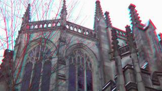 Edinburgh Castle Stereoscopic 3D Video Slideshow Anaglyph 3D Glasses needed