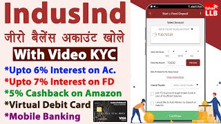 Indusind Bank ZERO Balance Account Opening Online - best zero balance bank account 2021 | Full Guide
