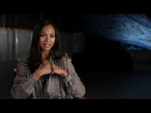 "Guardians of the Galaxy Vol. 2: Zoe Saldana ""Gamora"" Behind the Scenes Movie Interview"