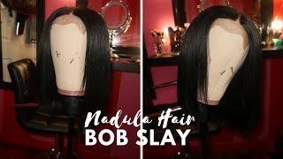 HOW TO SLAY A CLOSURE BOB WIG FT AMAZON NADULA HAIR