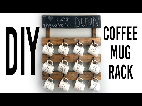 DIY Coffee Mug Rack For Wall