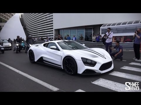 Zenvo ST1 - Driving around Monaco during Top Marques