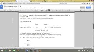 Put Options Lesson 10A: How To Make Money Both Ways With a Credit Put Spread (GLD): Part A