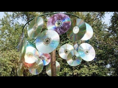Старые СД диски еще пригодятся в качестве оригинальных поделок для Дачи и Сада