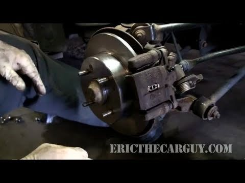 How To Replace Rear Disc Brakes (Full) - EricTheCarGuy
