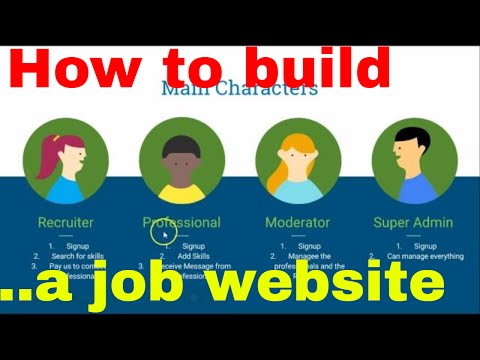 Web development tutorial - recruitment platform - 1 - Introduction to web design