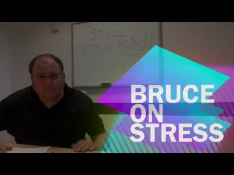 THERAPIST SPEAKS ON STRESS: ITS A KILLER....