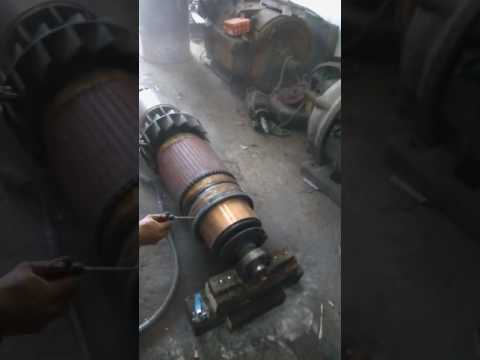 CLEANING WINDING ROTOR DC MOTOR