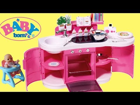 Baby Born Baby Annabell Table and Chair Set & Play Kitchen – Baby Dolls Cooking and Dinner Time Play