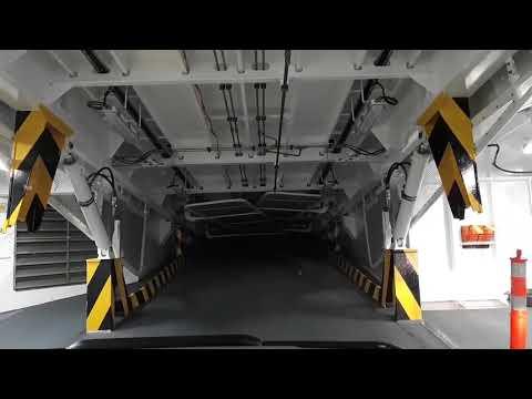 Deck ramp mechanism on BC Ferry Salish Raven
