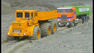 Heavy construction! LKW Globliner in the mud! Stunning Kiro K700 lorryTruck rescue!Rc volvo 2017 thumbnail