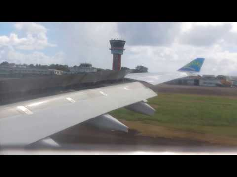 Landing a330 Air Caraïbes Guadeloupe