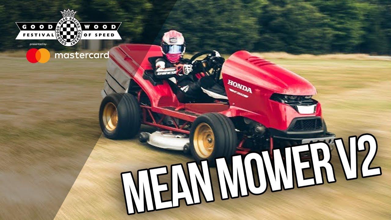 Honda s Mean Mower V2 mows the Duke s lawn for Goodwood Festival of