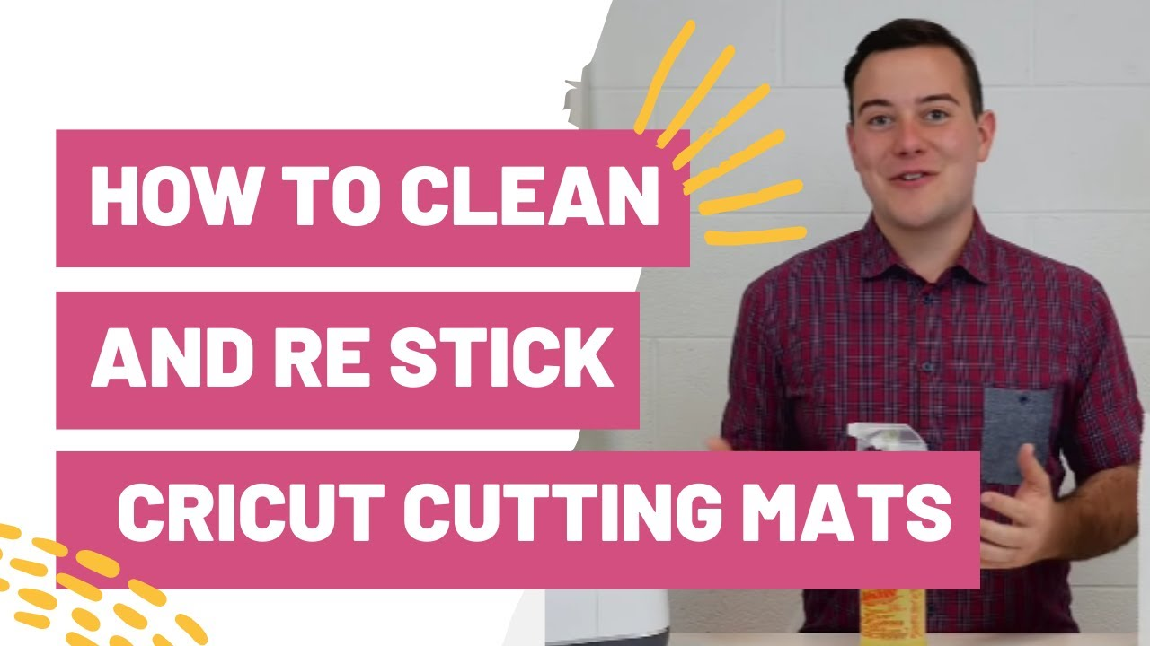 How To Clean And Re Stick Your Cricut Cutting Mats Youtube