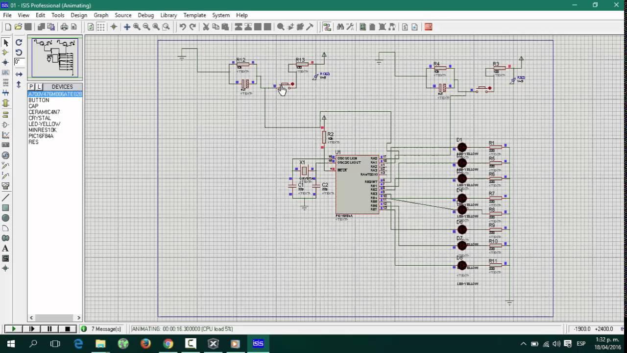 Implementaci n de 5 secuencias de luces diferentes sobre ocho 8 leds pic16f84a assembler