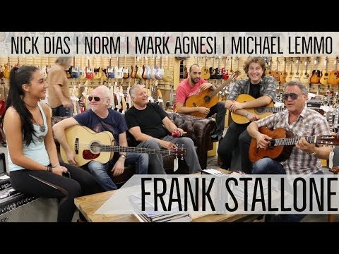 Frank Stallone with Norm, Mark, Nick and Michael playing Classical Guitars  Norman's Rare Guitars