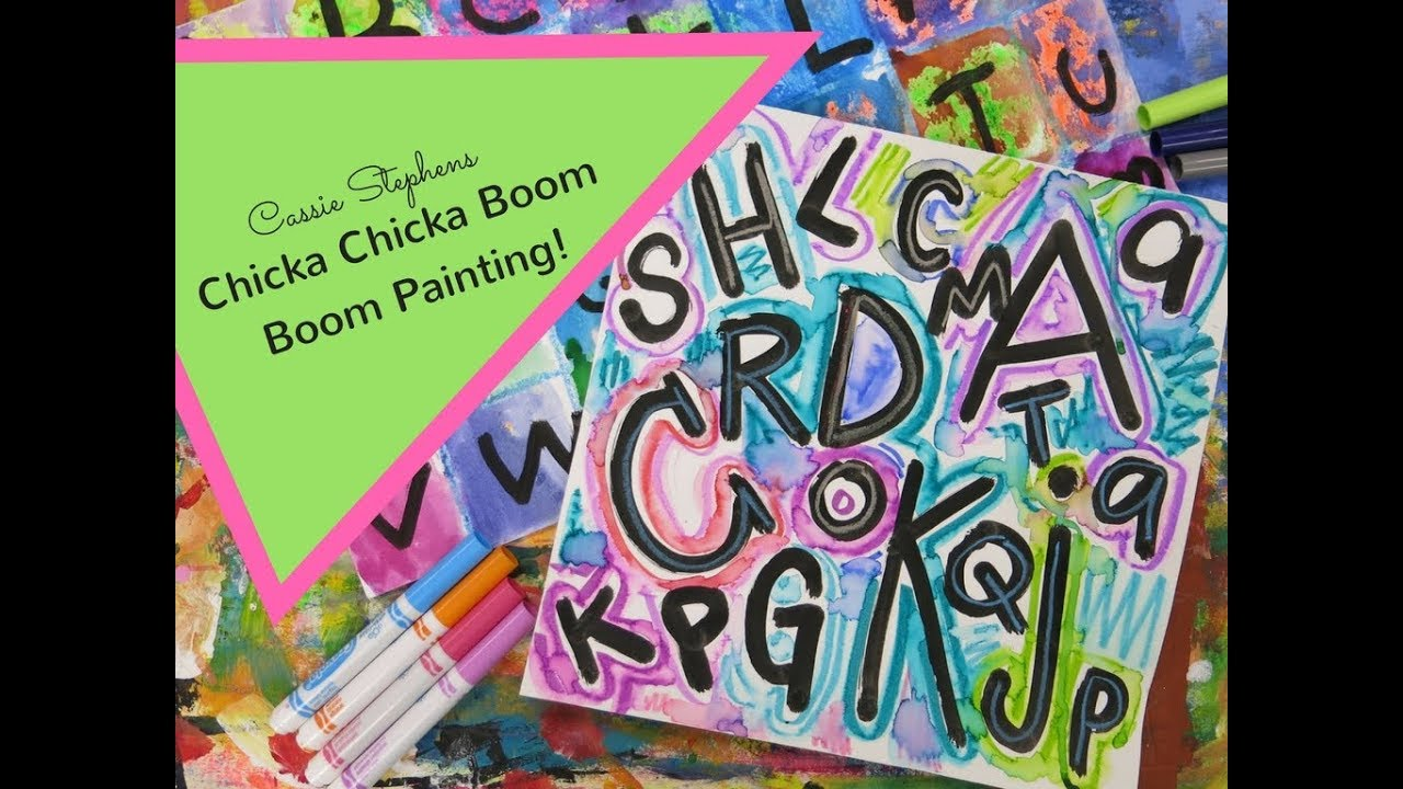 Chicka Chicka Boom Boom Painting with Kindergarten! - YouTube