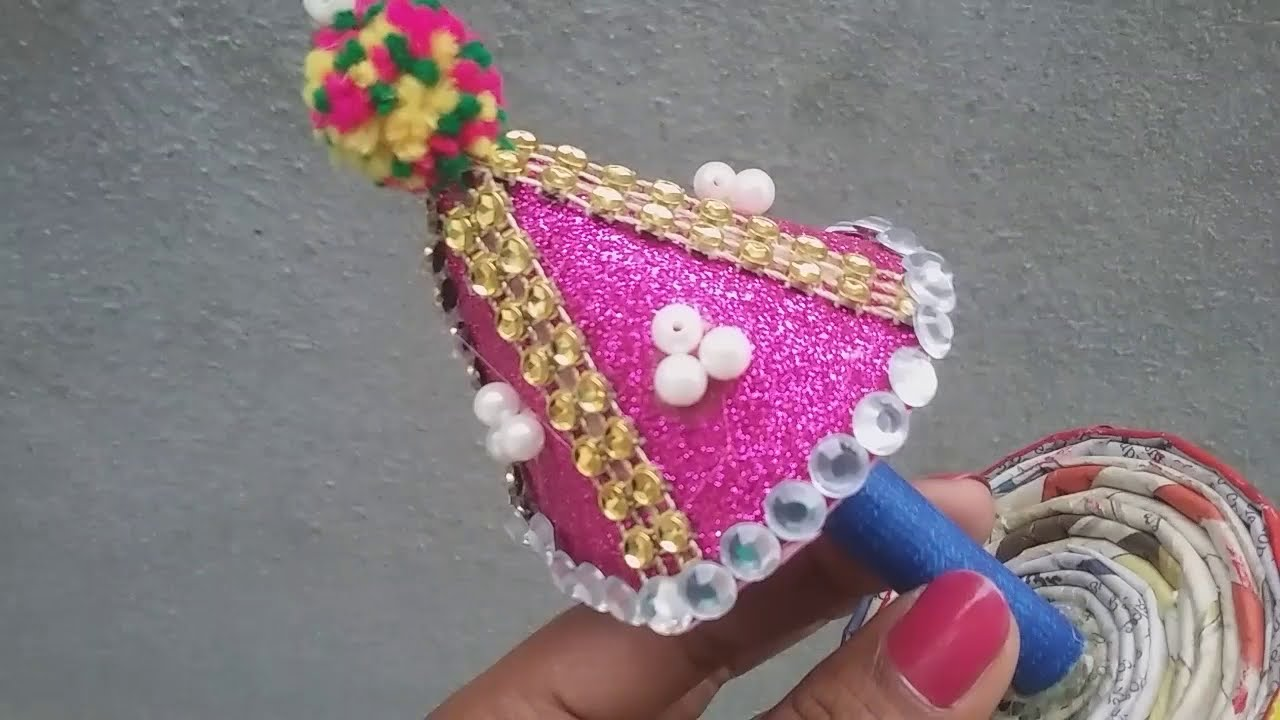 How To Make Simple Umbrella For Ganesh Chaturthi Handmade Project