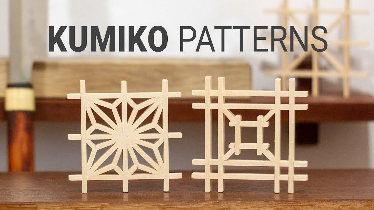 Making Kumiko Patterns Asanoha And Yotsuba Izutsu Tsugi Kumiko