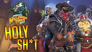 OVERWATCH HALLOWEEN TERROR 2017 Skins Highlight Intros & 50 LootBoxes
