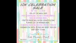 Fab Planner Print 10K Celebrations