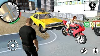 Real Gangster Simulator: Car Thief - Game With Open World And A Big City - Gameplay Android