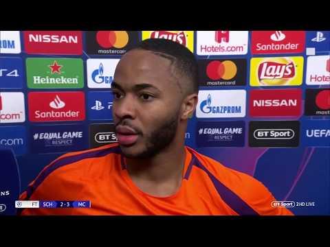 Raheem Sterling on how Man City overcame Schalke despite being down to 10 men