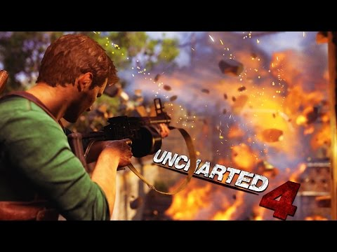 THE BIG GUN FIGHT - UNCHARTED 4: A Thief's End Part 10