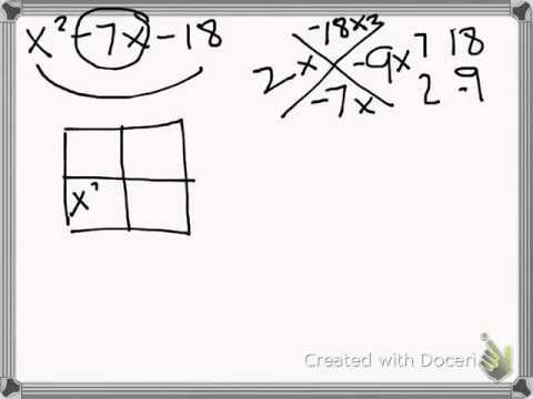 Factoring Quadratic Equation using Generic Rectangles
