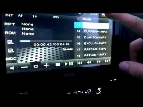AEG DVD Autoradio AR 4026 DVD MP3 USB Review / Vorstellung Deutsch [HQ][FHD][GER]