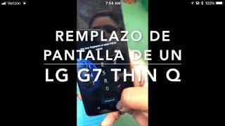 Lg g7 como remplazar pantalla rota muy fácil de hacer☺️
