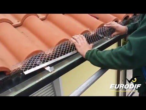 Montaggio barriera protezione gronda
