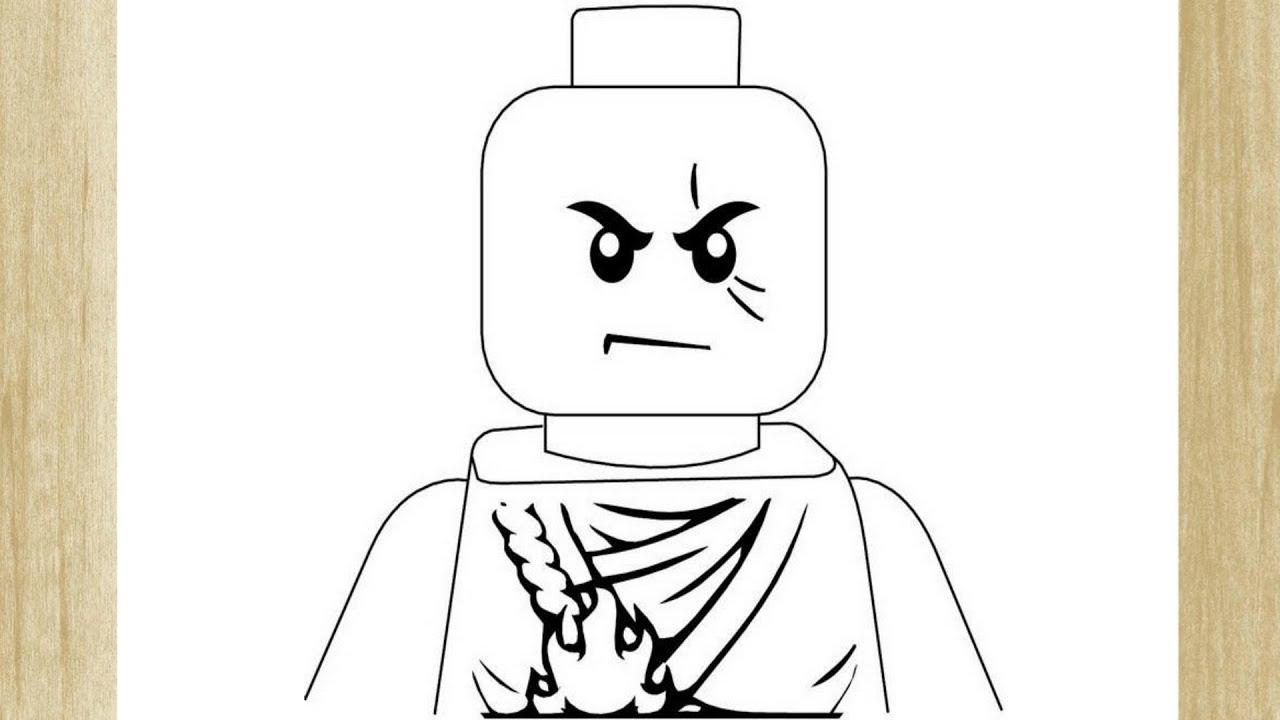 Como Desenhar Um Personagem De Lego Ninjago Youtube