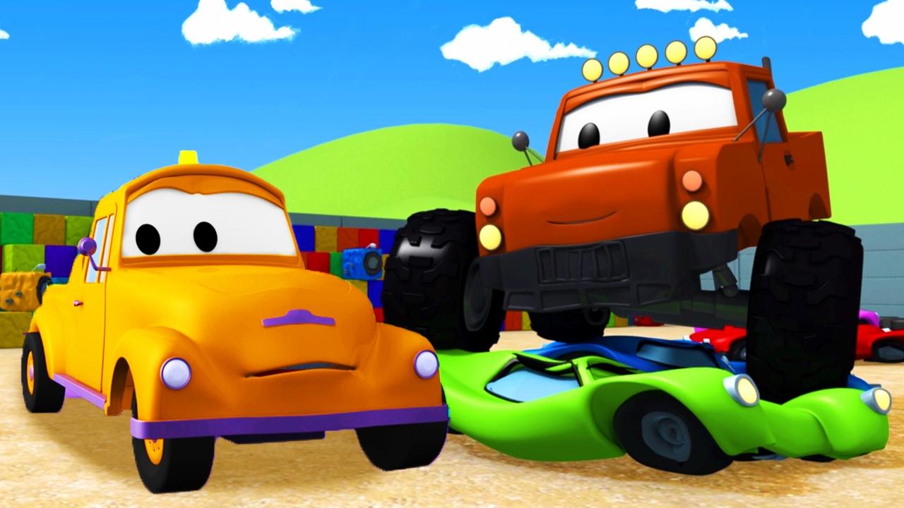 Xe tải quái vật Và Tom - Chiếc xe tải kéo | Phim hoạt hình chủ đề xe hơi và xe tải xây dựng